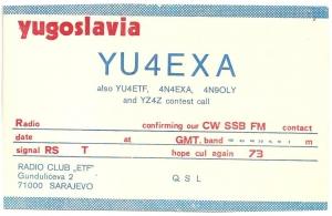 YU4EXA QSL